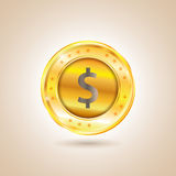 Money - Dollar Coin. Vector illustration Royalty Free Stock Photography