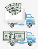 Money dollar envelope car Stock Photo