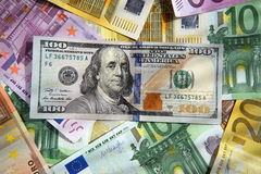 Money Dollar Euro Royalty Free Stock Photo