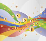 Money / Dollar Flow - Illustration Royalty Free Stock Images