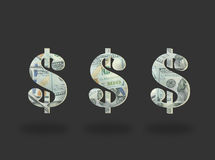 Money Dollar icon on black. Background Royalty Free Stock Photography