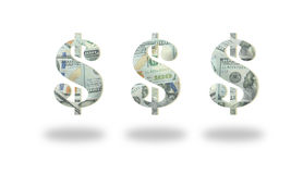 Money Dollar icon on white. Background royalty free stock photo