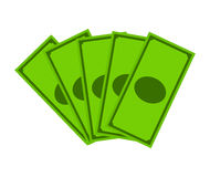 Money dollar note vector symbol icon design. Royalty Free Stock Images