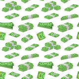 Money Dollar Packing in Bundles of Bank Notes Background Pattern on a White. Vector. Money Dollar Set Packing in Bundles of Bank Notes Background Pattern on a Stock Image