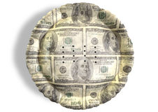 Money Dollar Pie Top Stock Images