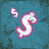 Money dollar vintage abstract grunge background Stock Image