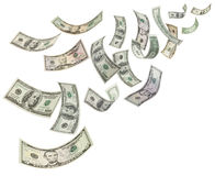 Money Dollars Background Blowing Falling Royalty Free Stock Image