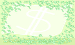 Money notes green background Royalty Free Stock Images