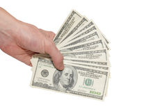 Money dollars in the hand Royalty Free Stock Photo