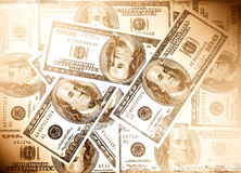 Money dollars, vintage style Royalty Free Stock Image
