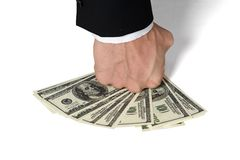 Money dollars wealth millionaire. Money dollars lie on a plate symbolize wealth Stock Photography