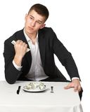 Money dollars wealth millionaire. Man shows money dollars wealth millionaire Royalty Free Stock Photos