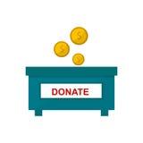Money donate box vector illustration. royalty free illustration