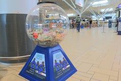 Money donation box Brisbane airport Australia Stock Photography