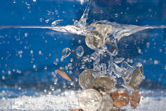 Money Down the Drain Royalty Free Stock Photos