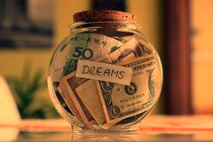 Money dreams, original idea Royalty Free Stock Photography