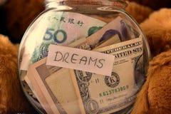Money dreams, original idea Stock Photos