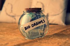 Money dreams, original idea. Dreams money , nice original idea Royalty Free Stock Images