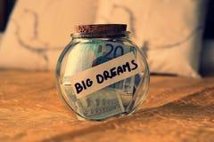 Money dreams, original idea Royalty Free Stock Images