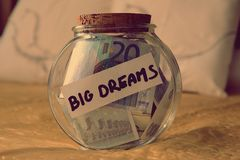 Money dreams, original idea Stock Photography