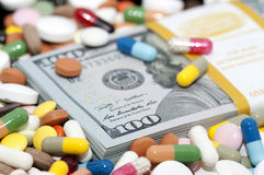 Money and drugs Royalty Free Stock Images