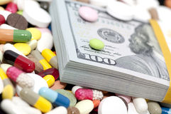 Money and drugs Stock Photography