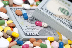 Money and drugs Royalty Free Stock Photo