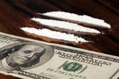 Money and drugs Stock Photos
