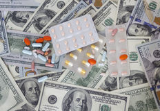 Money and drugs Stock Photos