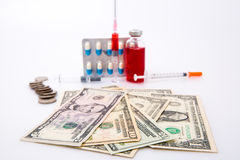 Money and drugs Stock Images