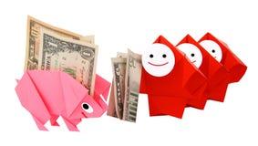 Money, earnings, and economy metaphor Stock Image