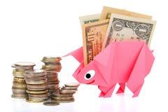 Money, earnings, and economy metaphor. Conceptual image of money, earnings, and savings Stock Photography