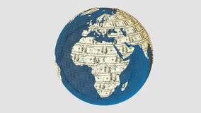 Money earth. American dolar texture on the earth Stock Photo