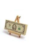 Money on easel Stock Photo