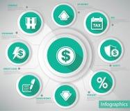 Money & Economic Concept,Blue version Royalty Free Stock Photo