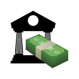 Money economy and financial item. Bills and bank icon. Money financial and economy theme. Isolated design. Vector illustration Royalty Free Stock Photos