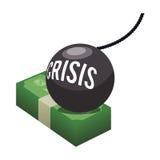 Money economy and financial item. Bills bomb and crisis icon. Money financial and economy theme. Isolated design. Vector illustration Royalty Free Stock Photography