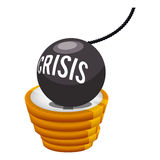 Money economy and financial item. Coins bomb and crisis icon. Money financial and economy theme. Isolated design. Vector illustration Royalty Free Stock Photo