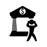 Money economy and financial item. Pictogram and bank icon. Money financial and economy theme. Isolated design. Vector illustration Stock Photos