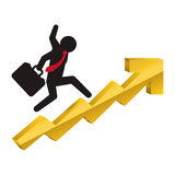 Money economy and financial item. Pictogram and growth arrow icon. Money financial and economy theme. Isolated design. Vector illustration Royalty Free Stock Image