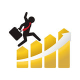 Money economy and financial item. Pictogram and growth arrow icon. Money financial and economy theme. Isolated design. Vector illustration Royalty Free Stock Photo