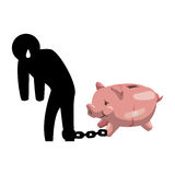 Money economy and financial item. Piggy and pictogram icon. Money financial and economy theme. Isolated design. Vector illustration Royalty Free Stock Images