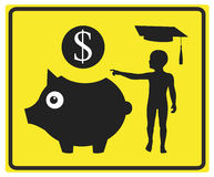 Money for education Stock Image
