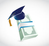Money education graduation illustration design Royalty Free Stock Photography