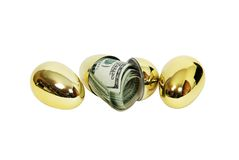Money egg Royalty Free Stock Photos