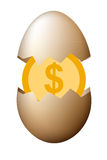 Money in egg business finance concept vector design. Money in egg business finance concept vector design Stock Photography