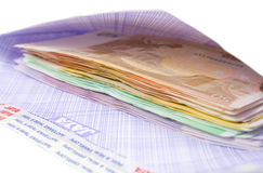 Money in envelop Stock Image