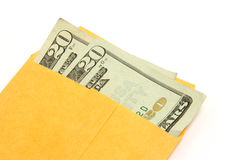 Money in envelope 02. Money in a manila envelope Royalty Free Stock Photography