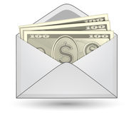 Money in an envelope Stock Photos