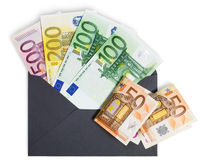 Money in Envelope Royalty Free Stock Photography